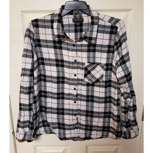 2X Forever 21 Plaid Long Sleeve Button Down Shirt